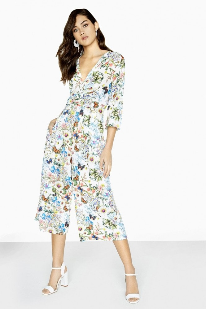 Girls on Film Lenny Jumpsuit In Floral Print