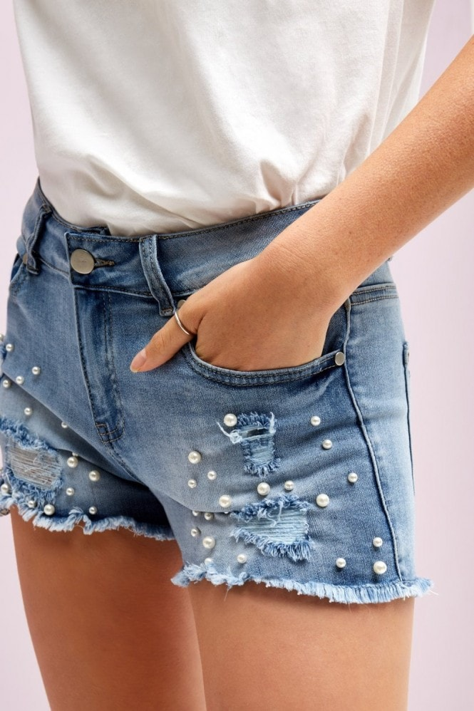 Girls on Film Pearl Detail Shorts