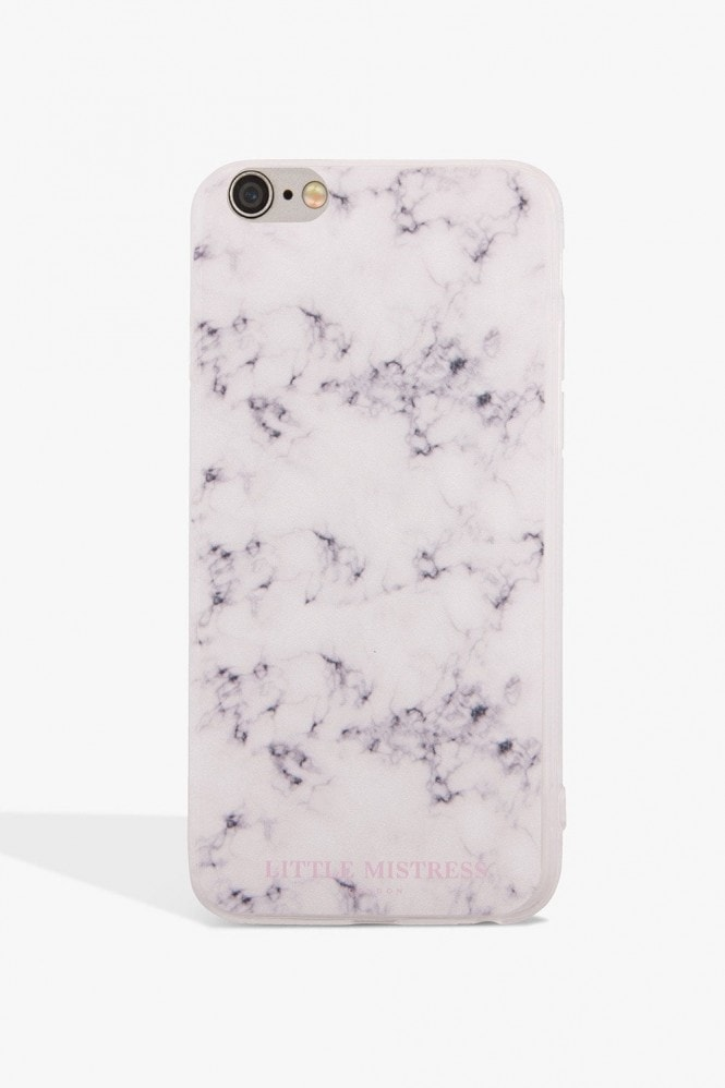 Little Mistress Accessories Grey Marbled Case Iphone 7