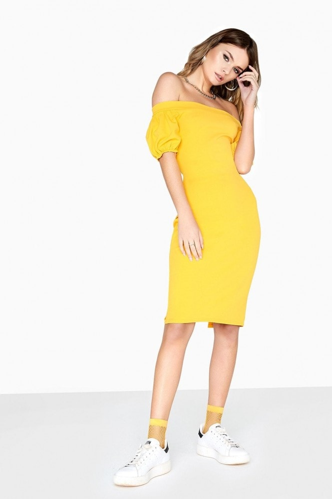 Outlet Girls On Film Levin Puff Sleeve Dress