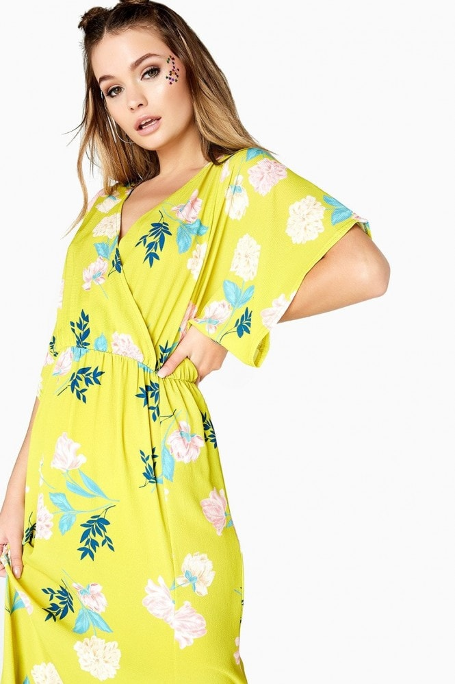 Girls on Film Desperado Floral Mock Wrap Maxi Dress
