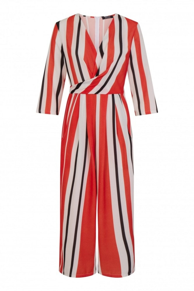 Girls on Film Lenny Multi-Stripe Jumpsuit