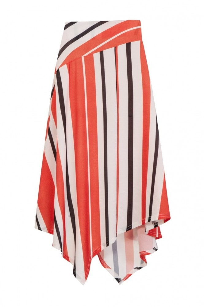 Girls on Film Dallas Hanky Hem Skirt In Multi Stripe