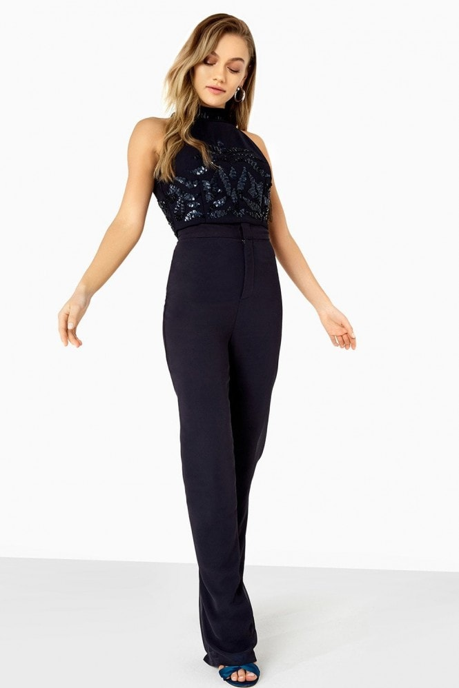 Little Mistress Violet Palazzo Trouser Co-Ord