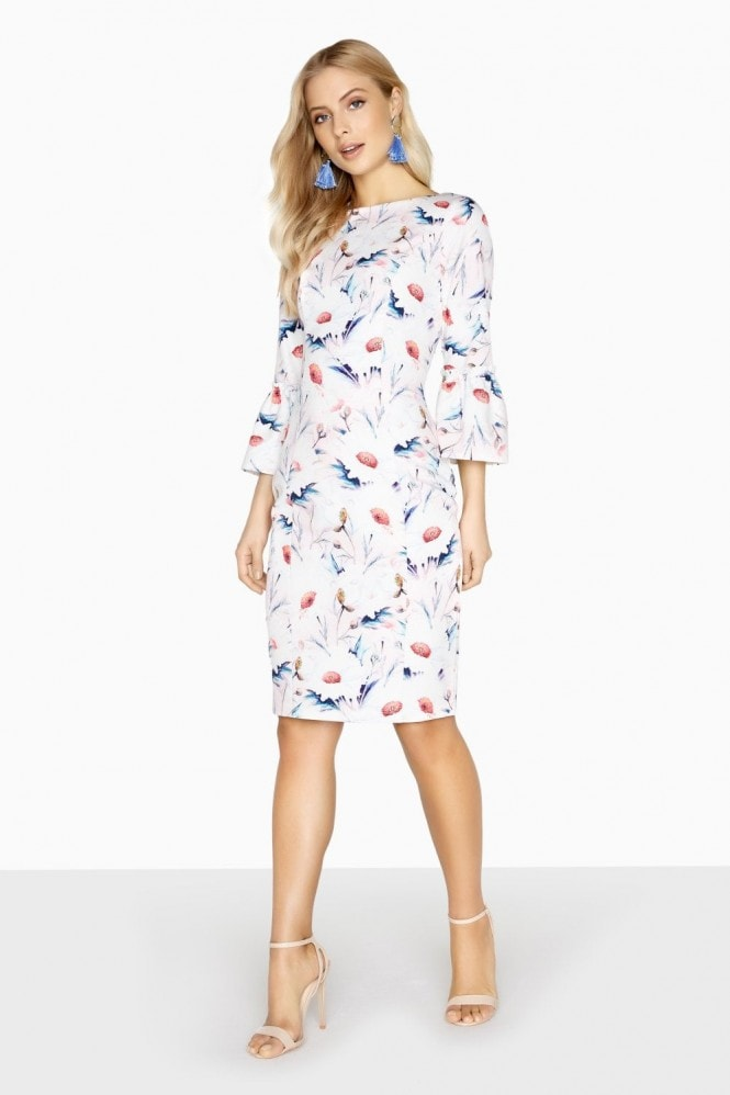 Outlet Paper Dolls Fontaine Fluted Cuff Dress