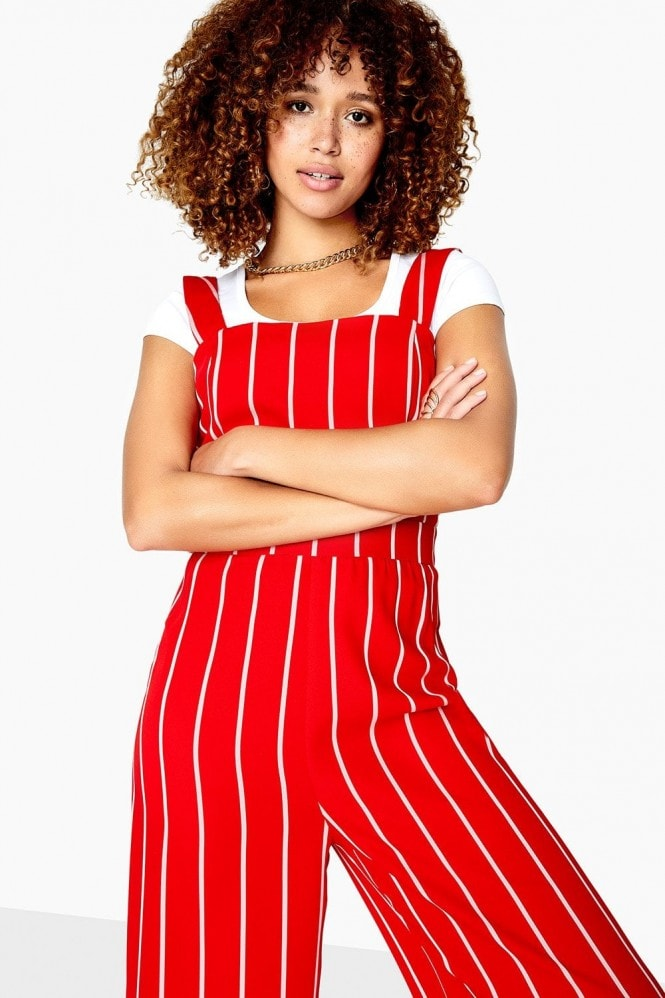 Girls on Film Jermaine Pinstripe Jumpsuit