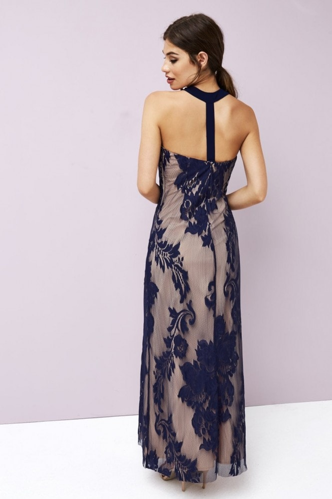 Little Mistress Baroque Lace Maxi Dress