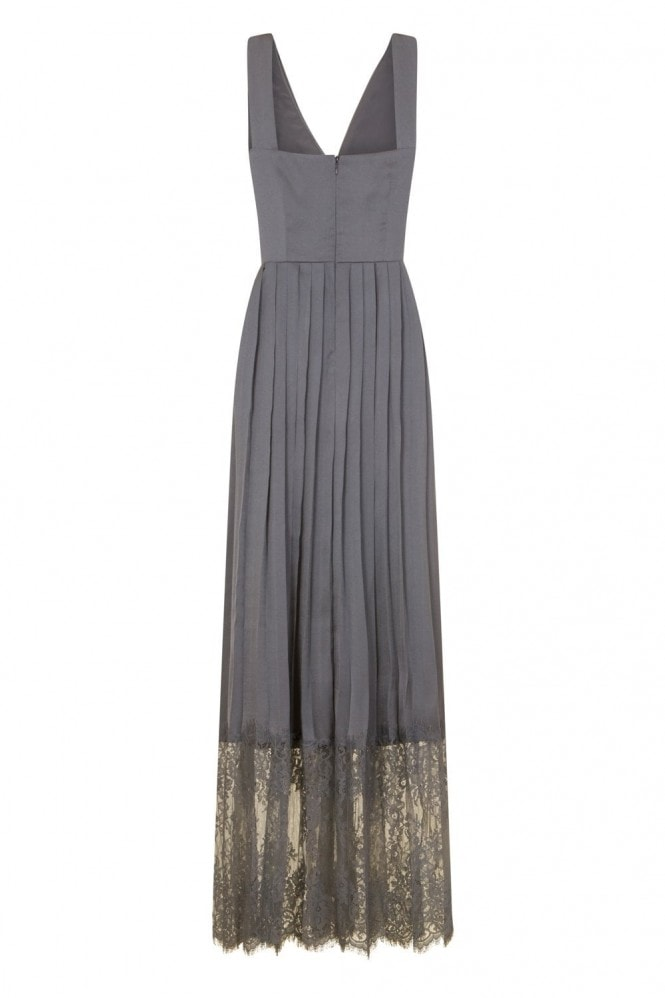 Little Mistress Maya Empire Maxi Dress With Lace Hem