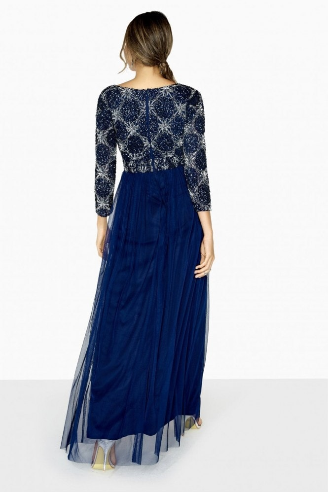 Little Mistress Lucy Hand-Embellished Maxi Dress