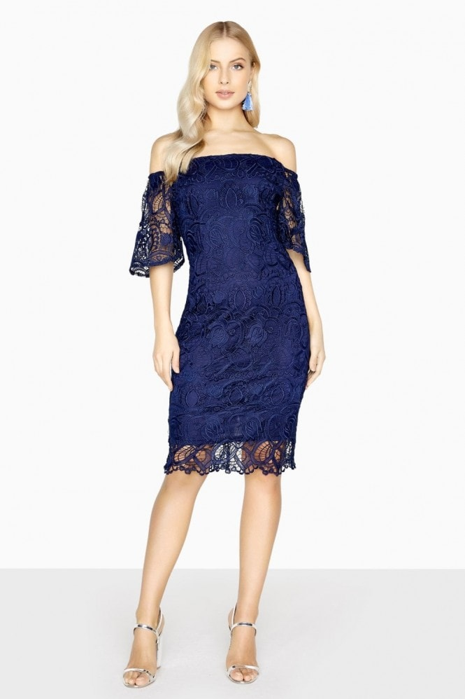 Paper Dolls Cambrais Off The Shoulder Lace Dress
