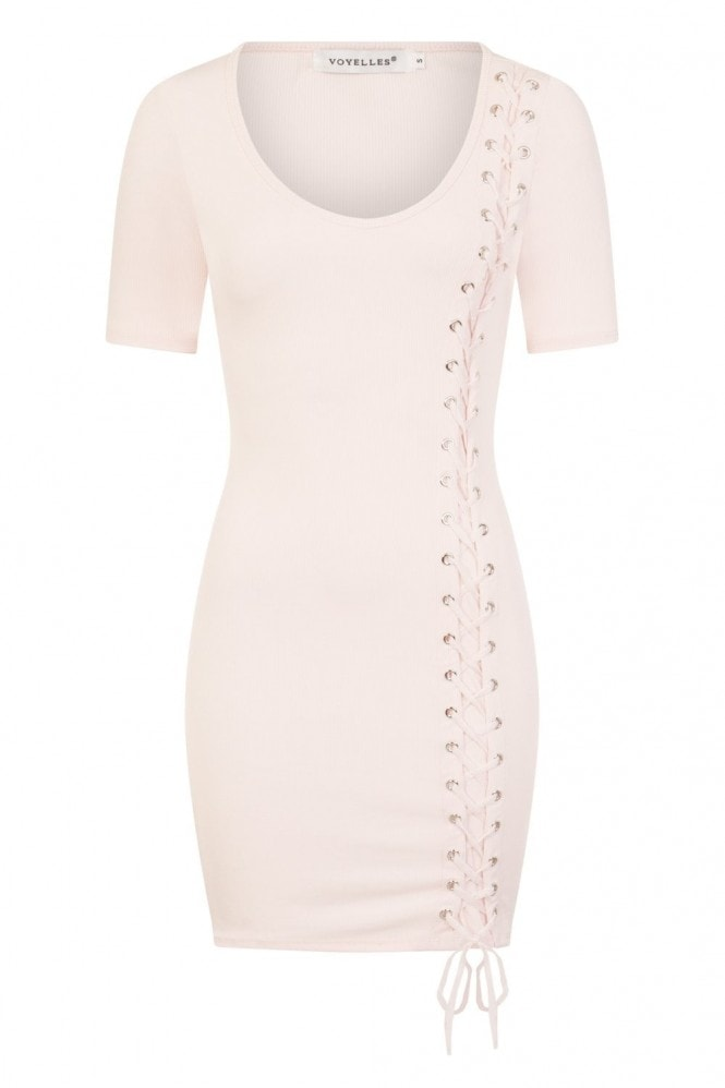 Narcissist Tie-Up T-Shirt Dress