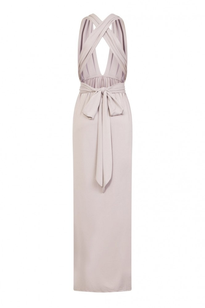 Whisper Multiway Grey Maxi Dress