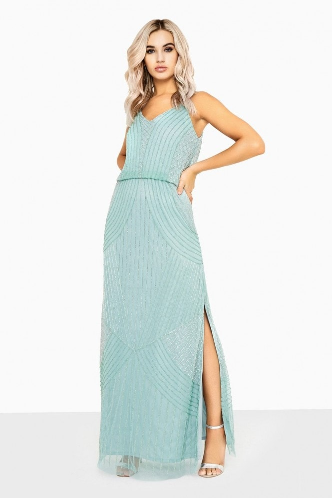 Little Mistress Alexis Beadwork Cami Maxi Dress