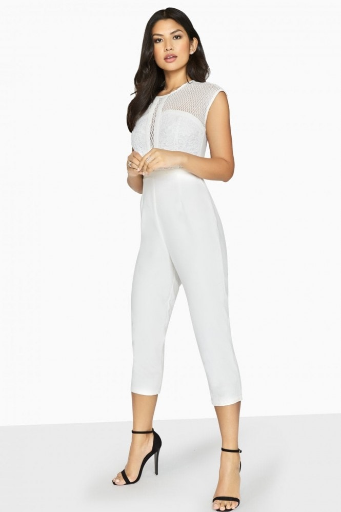 Outlet Girls On Film Jessie Lace Panel Jumpsuit