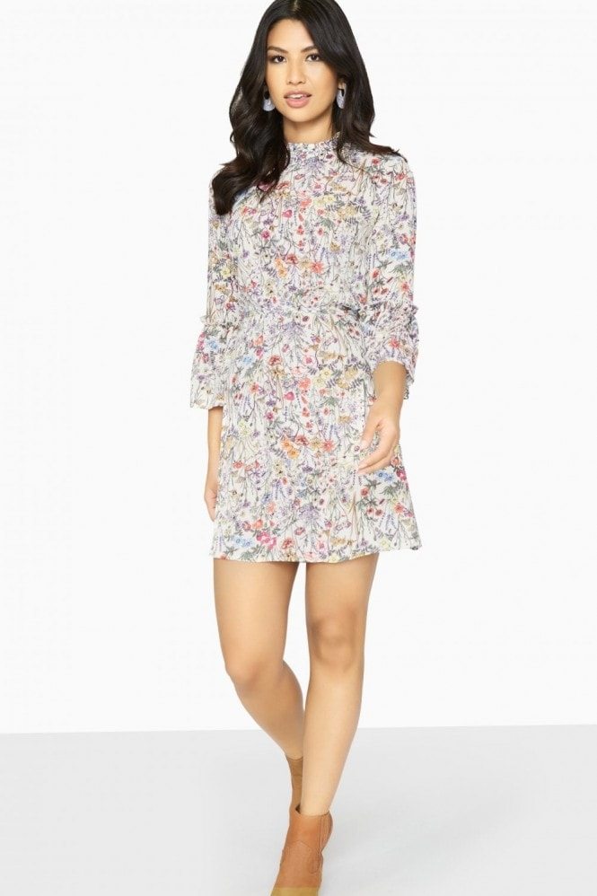 Girls on Film Austin Frill Collar Shift Dress