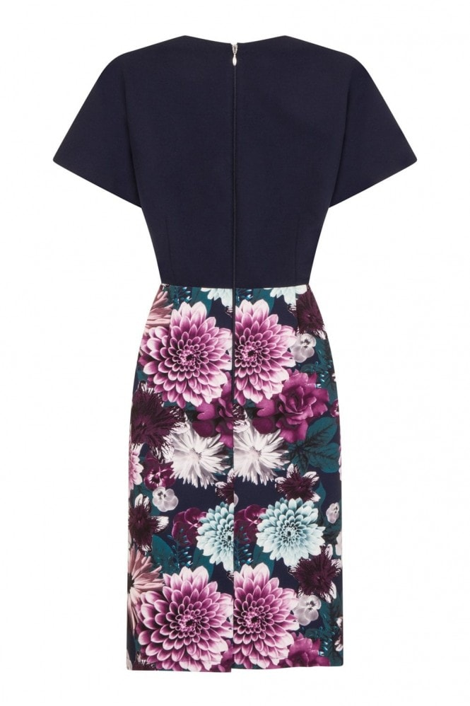 Paper Dolls Auburn Mock Wrap Dress With Floral Skirt