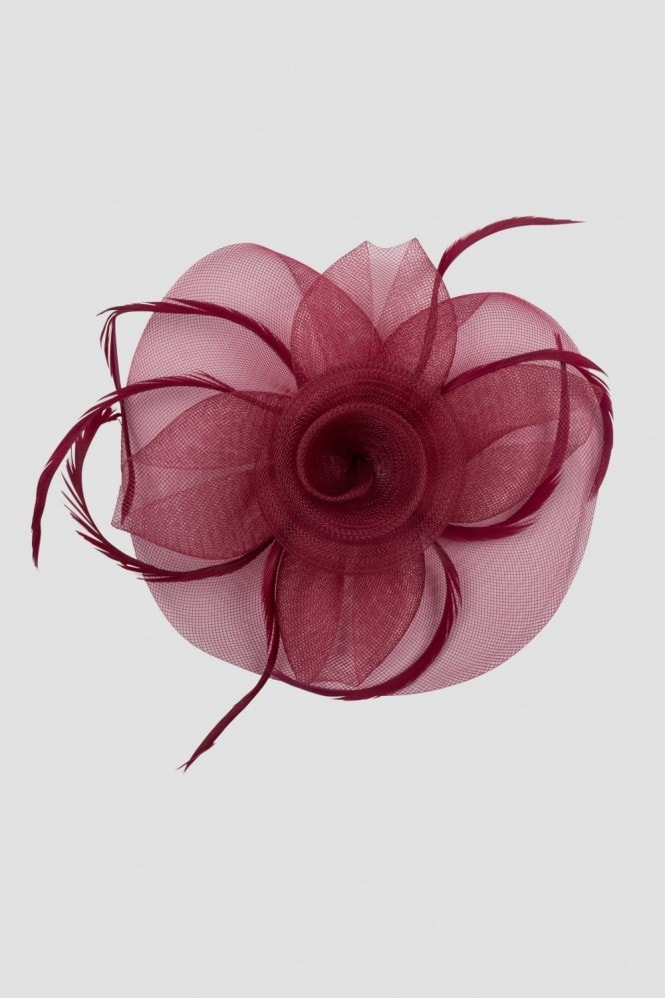 Red Fascinator