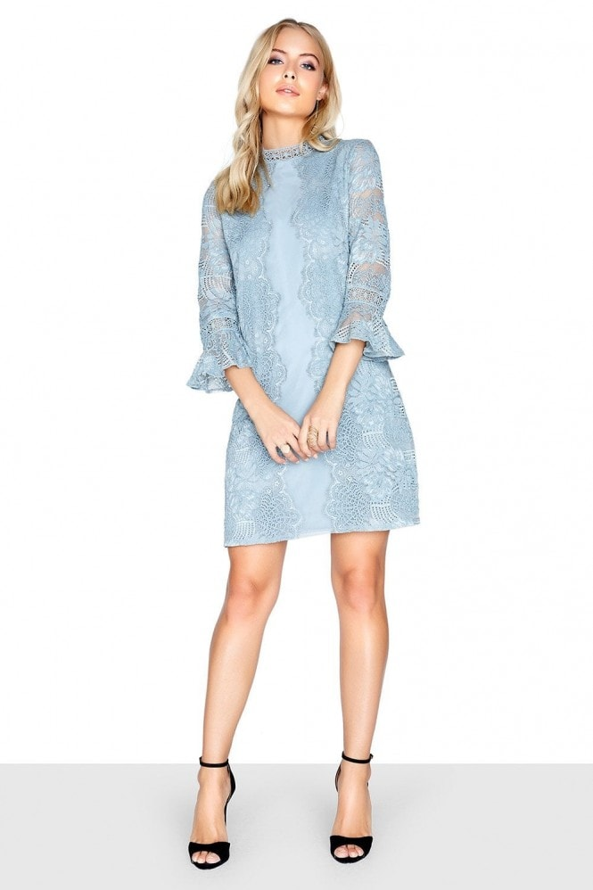 Little Mistress Cornflower Shift Dress