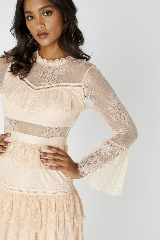 Ethereal Tiered Lace Dress