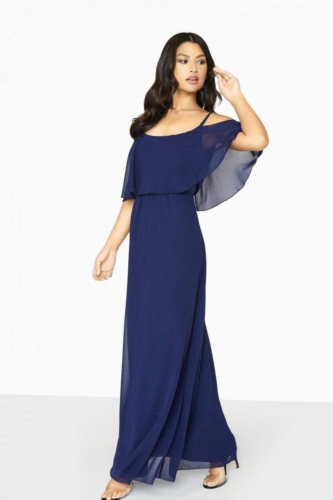 Girls on Film Motion Cold Shoulder Maxi