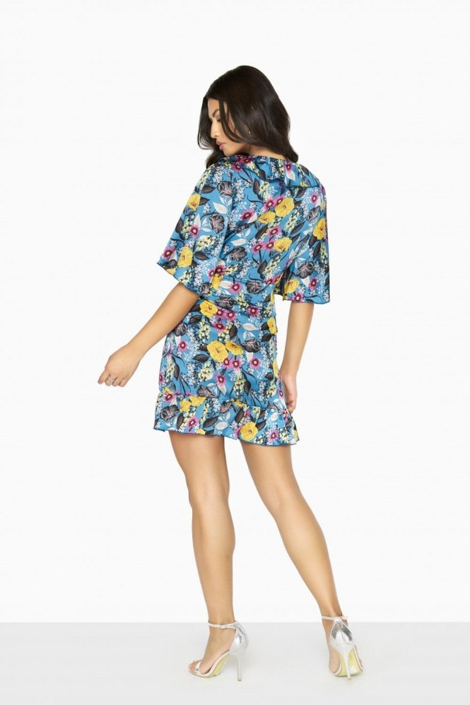 Girls on Film Neverland Button Wrap Dress
