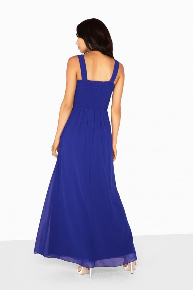 Zoe Jewel Waist Plunge Maxi Dress