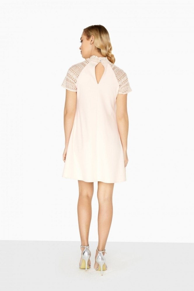 Little Mistress Orla Geo Lace Shift Dress