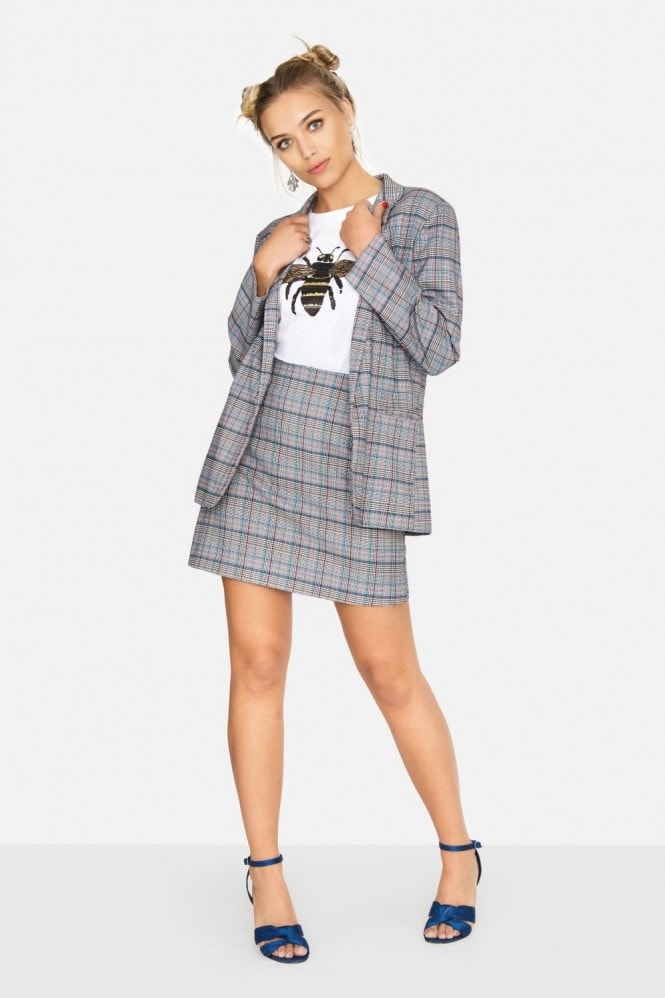 Outlet Girls On Film Avenue Check Blazer