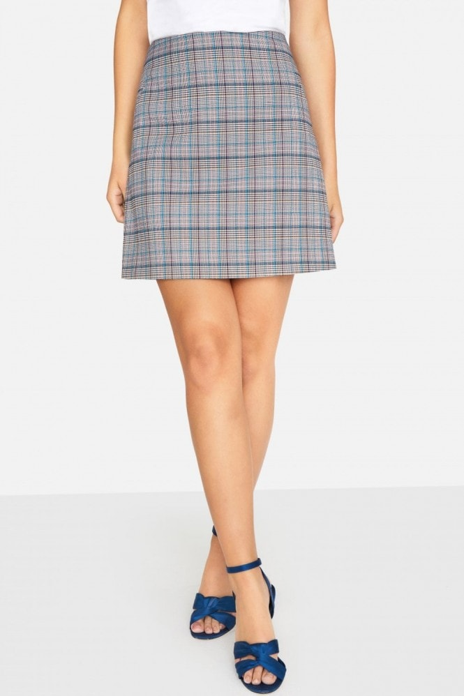 Girls on Film Avenue Check Skirt