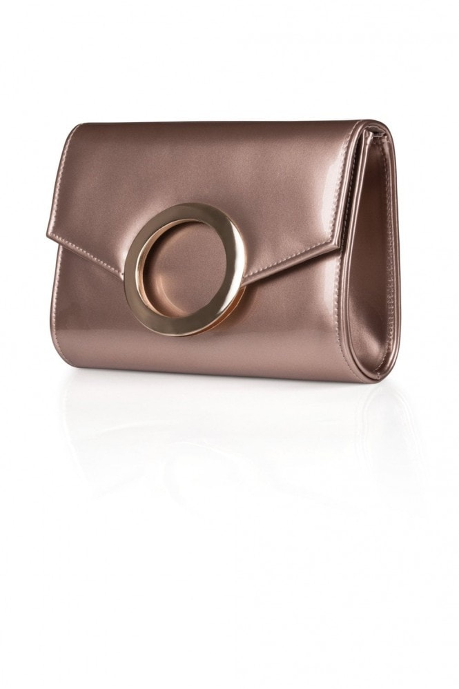 Metallic Ring Clutch Bag