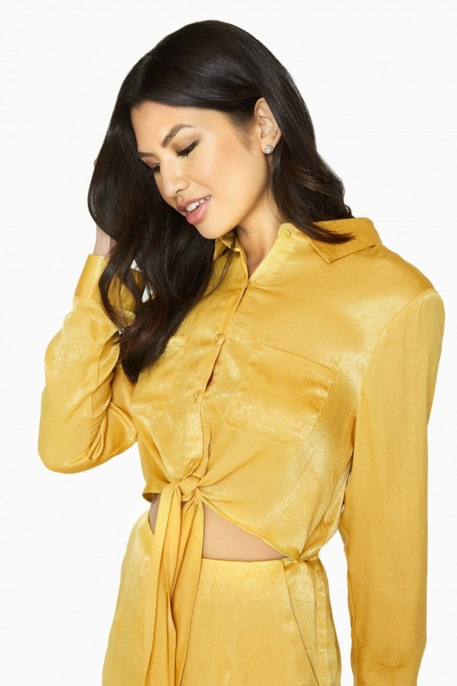 Girls on Film Liquid Gold Utility Jumpsuit