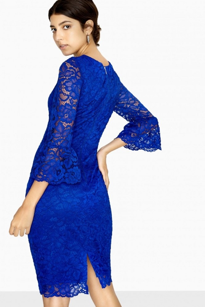 Paper Dolls Marlborough Fluted Sleeve Lace Dress