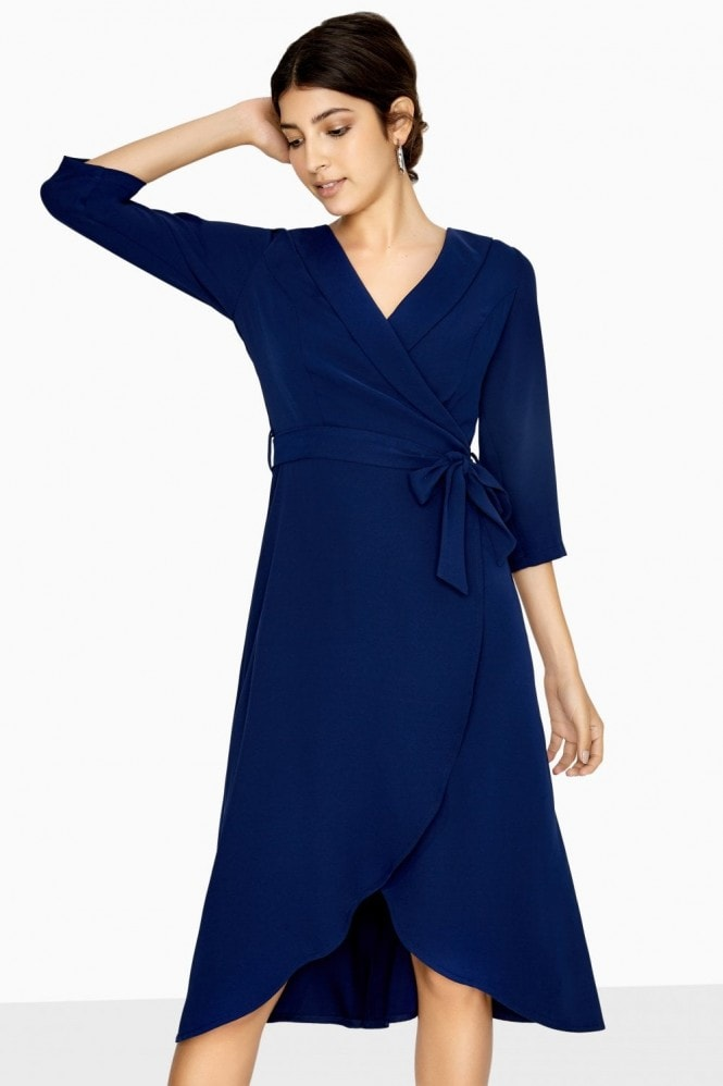 Paper Dolls Lawson Curve Hem Wrap Dress