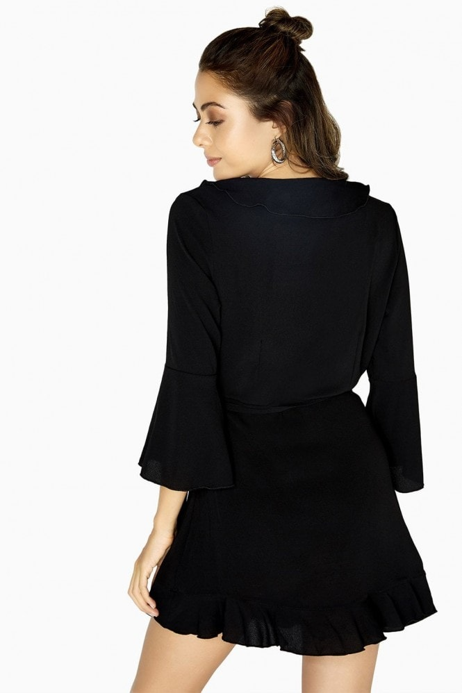 Outrageous Fortune Black Wrap Midi