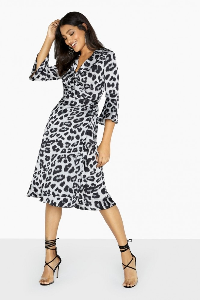 Outrageous Fortune Mono Leopard Dress