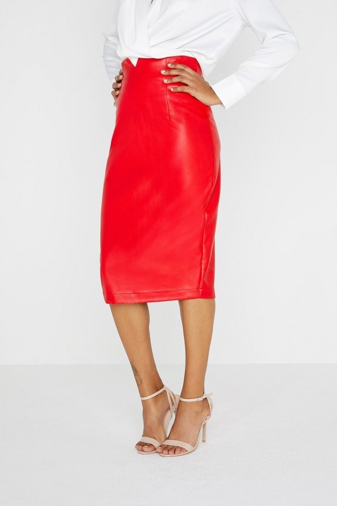 Outrageous Fortune PU Pencil Skirt