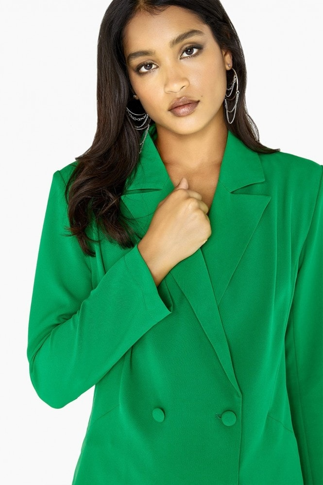 Outrageous Fortune Green Double Breasted Blazer Co-Ord