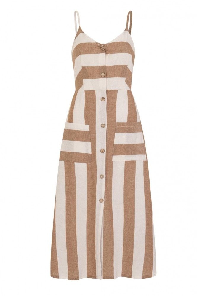 Abeo Cami Midi Dress In Stripe