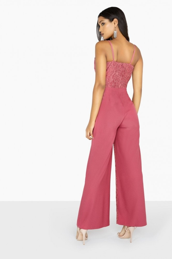 Little Mistress Amy Strappy Lace Jumpsuit