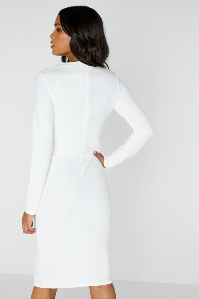 Outrageous Fortune White Tuxedo Dress