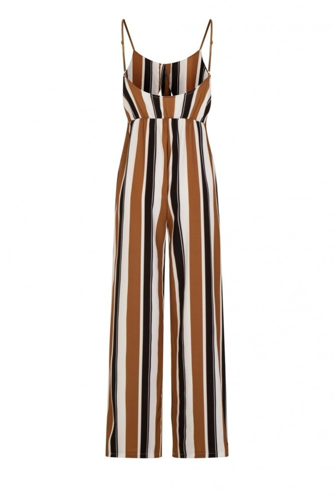 Moretz Tie Jumpsuit In Stripe