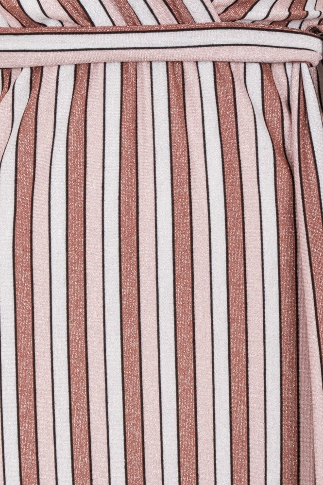 Pucci Metallic Stripe Plunge Maxi Dress