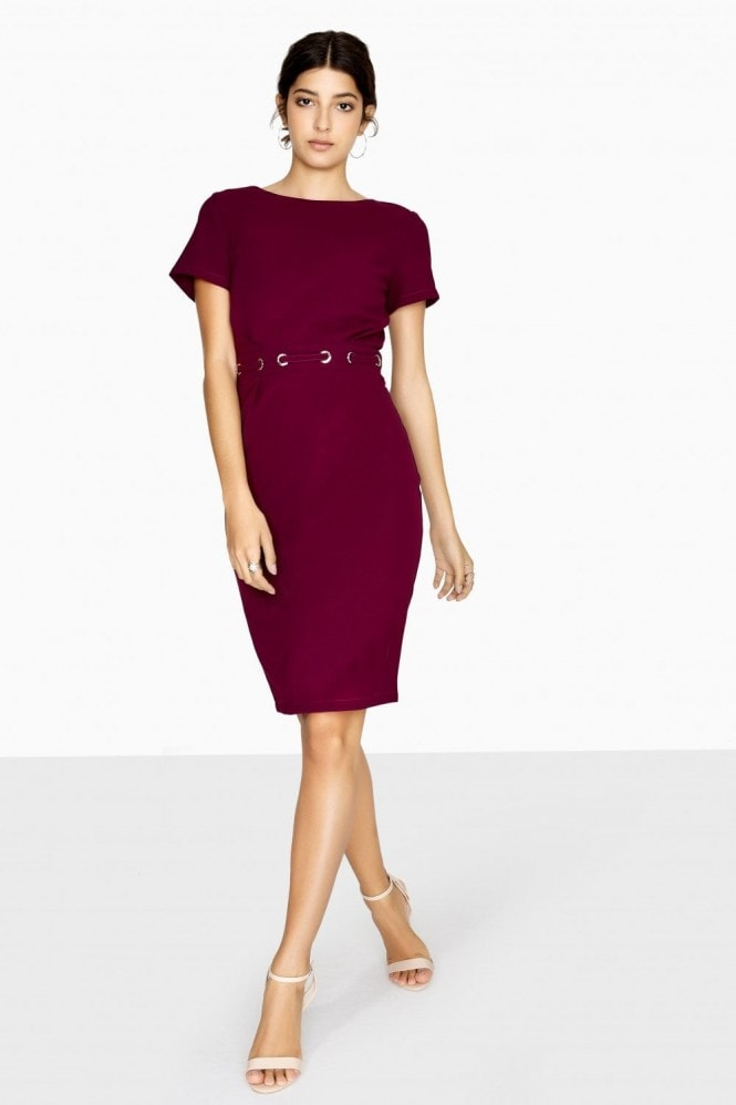 Outlet Paper Dolls Bayview Eyelet Waist Pencil Dress