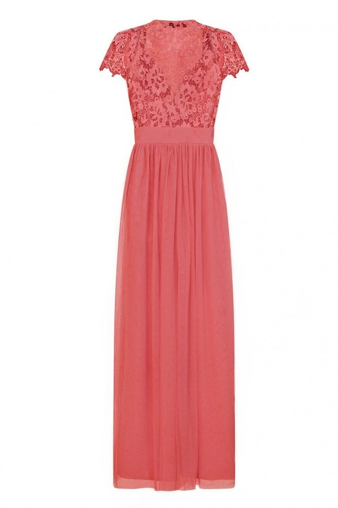 Little Mistress Lace Back Maxi Dress