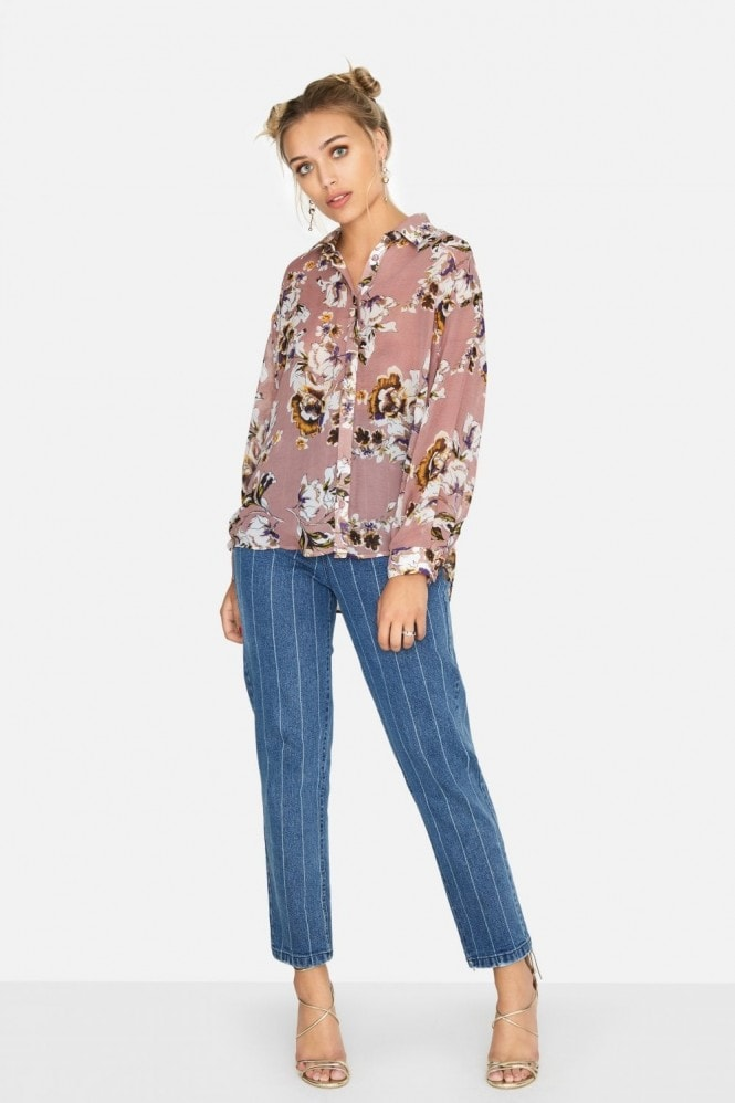 Girls on Film Zaire Vintage Floral Shirt