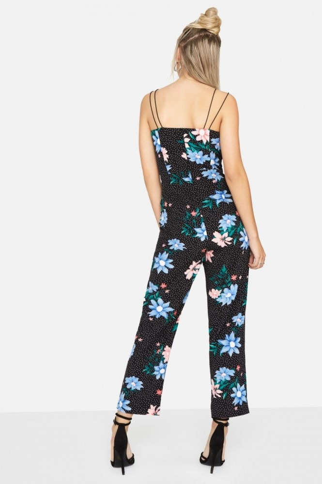 Girls on Film Florence Jumpsuit In Floral Spot