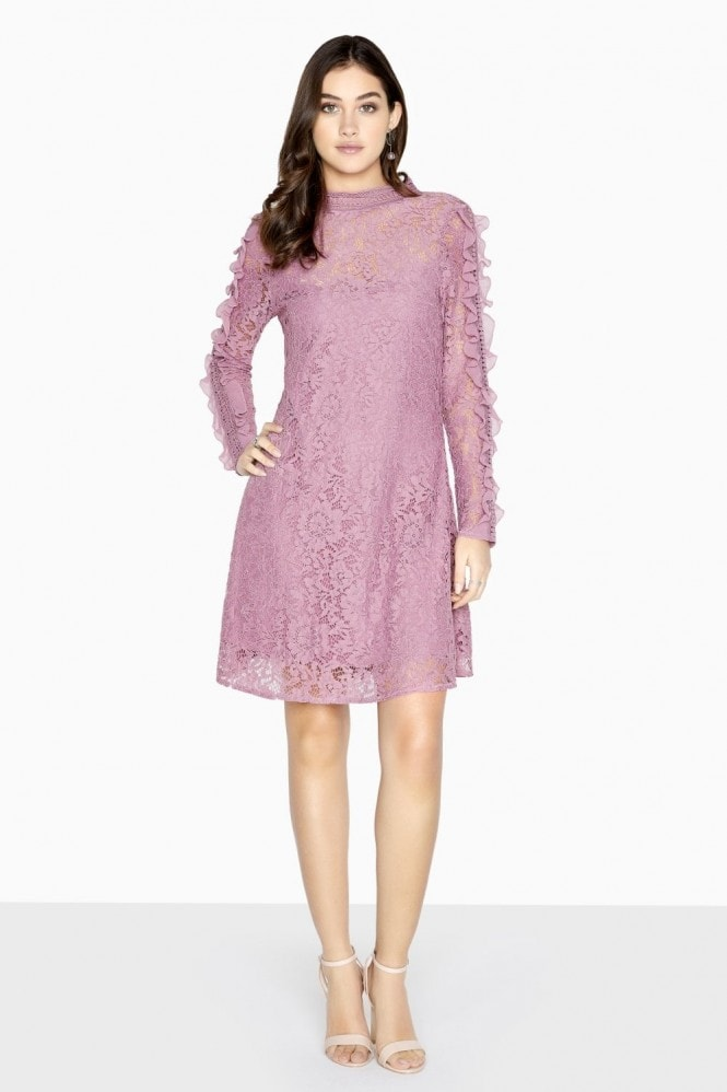 Jasmine Lace Frill Shift Dress