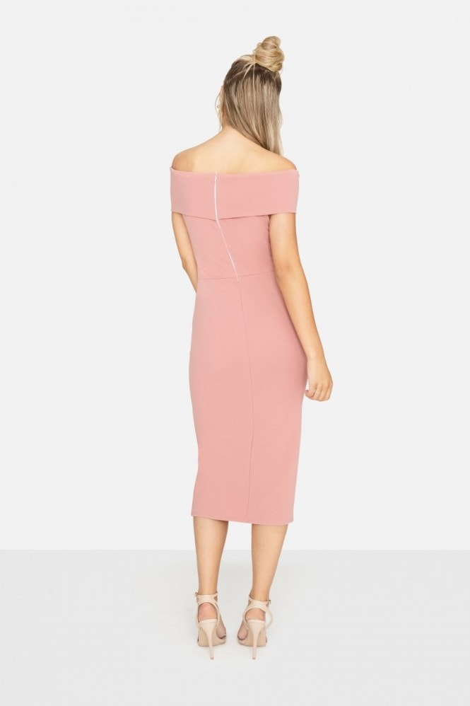 Girls on Film Sweet Thing Ruched Bardot Dress