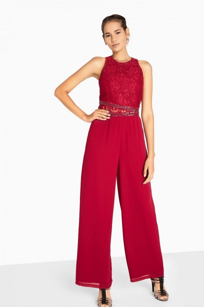 Little Mistress Madison Embellished Waist Jumpsuit