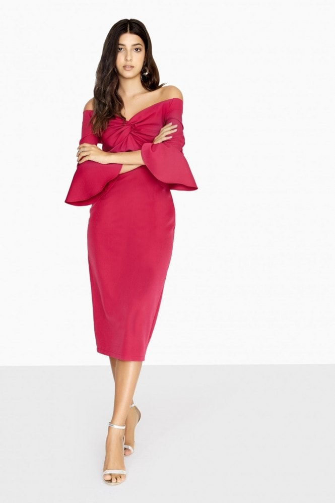 Paper Dolls Valley Knotted Off The Shoulder Dress